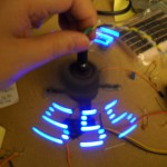 Persistence of vision display using 555 timers