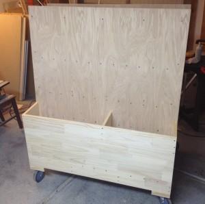 Finished cart (scrap bins)